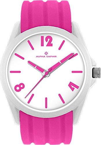 Alpha Saphir Reloj Analógico para Hombre de Cuarzo con Correa en Silicona 378T