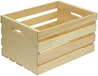 "HOUSEWORKS 67140 18"" Lx12.5 Wx9.5 H Large Crates & Pallet Wood Crate"