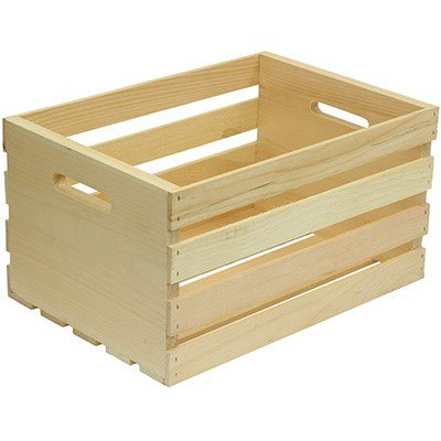 Crates and Pallet 67140 Wood Storage Crate, Large - Quantity 3