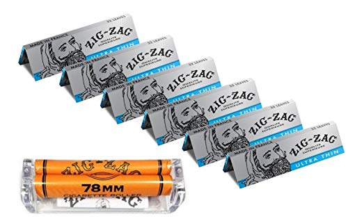 Zig-Zag 1 1/4 Ultra Thing Rolling Papers (6 booklets) with 78mm Roller