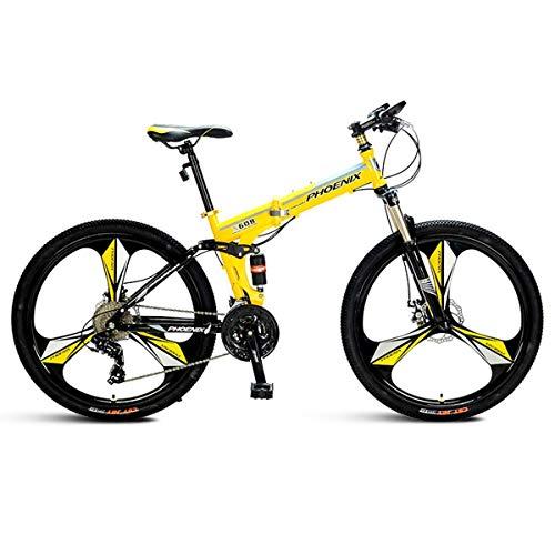 """Herrenfahrräder Trail Herren 26\""""Wheel Mountain Bike 27 Speed Small 17\"""" Rahmen für größere Fahrer, Gelb"""