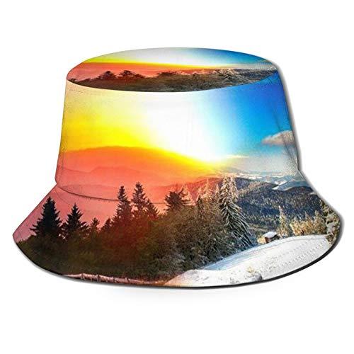GAHAHA Fischerhüte für Herren, rot, blau, himmel, Fischerhut, Wandern, langlebig, UV-Schutz, Unisex, faltbar, für den Außenbereich, Angelmütze