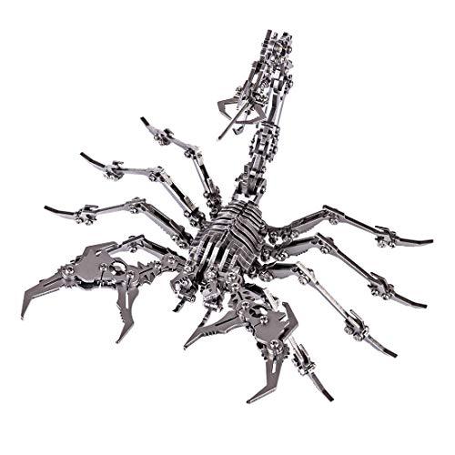 WEERUN Puzzles Metal 3D, 3D Puzzles Rey Escorpión Modelo DIY Ensamble Rompecabezas Metal 3D Kit de Construcción para niños Adultos - Rey Escorpión