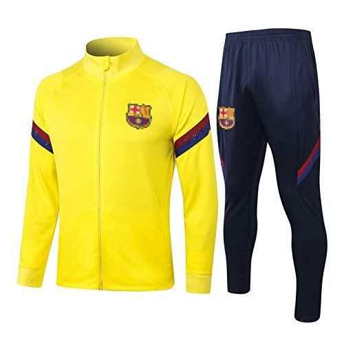 SSUU Bǎrcělǒnǎ Jersey de fútbol para Hombre Grǐězmǎnn chándal y Pantalones de fútbol Traje de Entrenamiento de fútbol Uniforme Profesional, Fan Amarillo Sudadera Ropa, FA M