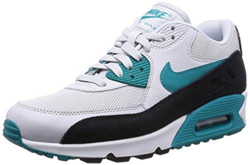 Nike - Wmns Air Max 90 Essential, Scarpe Sportive da Donna, pr Pltnm/rdnt emrld-Blk-Smmt w, 38