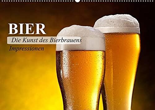 Bier. Die Kunst des Bierbrauens. Impressionen (Wandkalender 2022 DIN A2 quer): Lust auf ein leckeres Bier? (Geburtstagskalender, 14 Seiten ) (CALVENDO Kunst)