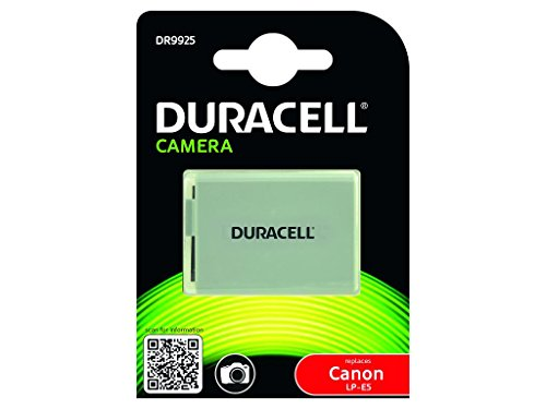 Duracell DR9925 - Batería para cámara digital 7.4 V, 1020 mAh (reemplaza batería original de Canon LP-E5)