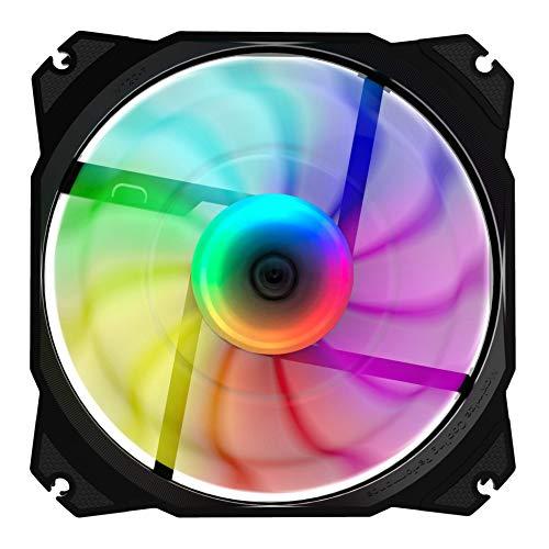 Nfortec Nebulus - Ventilador ARGB para PC con Pads Antivibración para Reducir el Ruido y Conector 5v 3pin