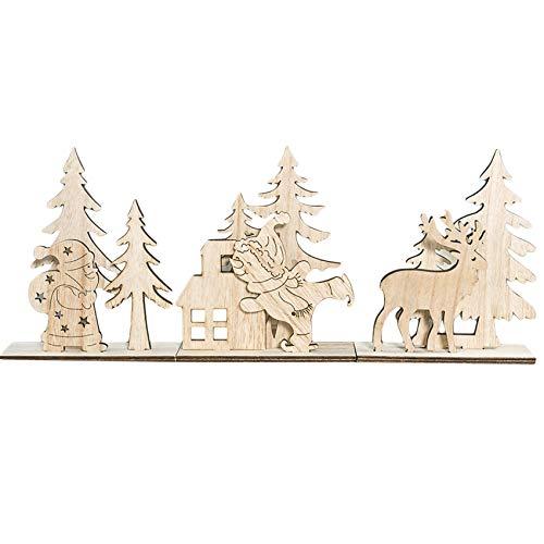 Generic sanmeiyang Satz von 2 Weihnachten Holzdekoration DIY Holz Puzzle Tisch Desktop-Ornament