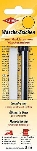 Kleiber + Co.GmbH Wäschezeichen-Kleinpackung, Bandlänge 3 m Bandbreite ca. 1 cm