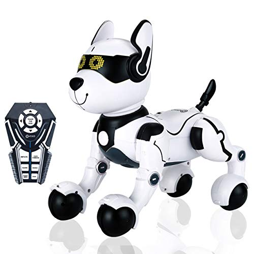 Contixo R4 IntelliPup Robot Dog, Walking Pet Robot Toy Robots for Kids, Remote Control, Interactive Dance, Voice Commands, RC Toy Dog for Boys and Girls