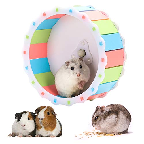 WAZA rundes Laufrad für Hamster, Mäuse, Wüstenrennmäuse, Ratten, Durchmesser 17 cm