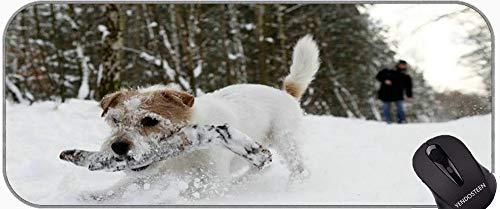 Alfombrilla de ratón con Borde de Bloqueo, Divertido Perro Labrador Negro Alfombrillas de ratón con Bordes cosidos