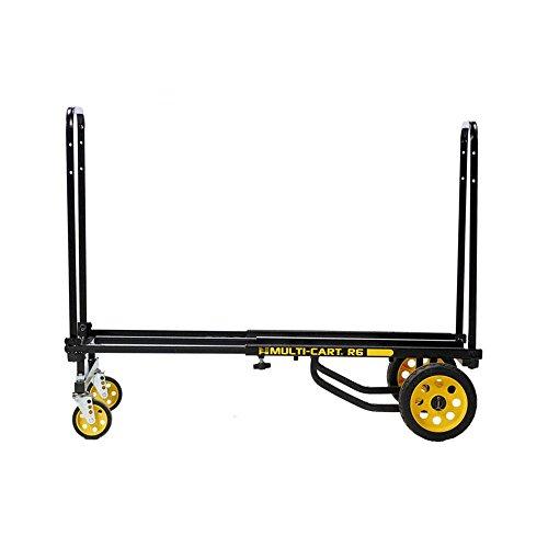 "Rock-N-Roller R6RT (Mini) 8-in-1 Folding Multi-Cart/Hand Truck/Dolly/Platform Cart/29"" to 42.5"" Telescoping Frame/500 lbs. Load Capacity, Black"