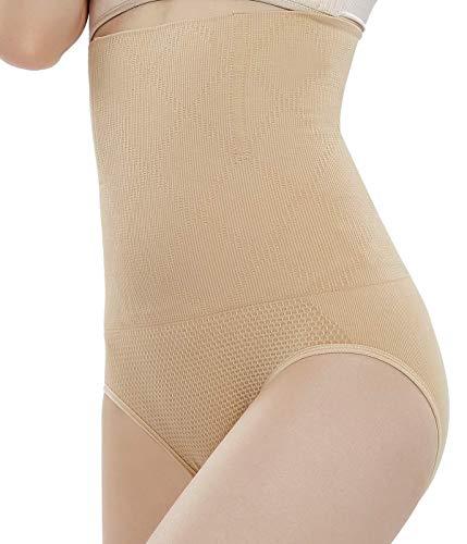 Bestele Mujer Braguitas Moldeadoras,Cintura Alta Adelgazantes Abdomen Faja Reductora Postparto Shapewear Levanta Gluteos Braguitas Control,Pantalón Cintura de Modelado Mujeres (1*Desnuda, M)