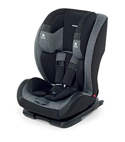 Foppapedretti Re-Klino Fix Seggiolino Auto ISOFIX Gruppo 1/2/3 (9-36KG), per Bambini da 9 Mesi a 12 Anni, Carbon
