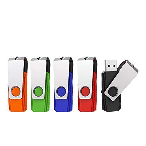 Vansuny 32GB Chiavette USB 3.0, 5 Pezzi PenDrive 32 GB 3.0 Rotazione a 360°, USB Flash Drive ad Velocità di Lettura Fino a 60 MB/s, Thumb Drive Memoria Stick Pendrive per PC, Laptop, Autoradio, TV