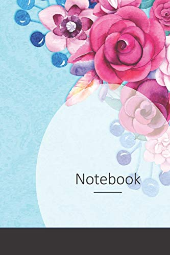 Notebook: Blumen, Damast, Hintergrund, Muster Notizbuch / Tagebuch / Schreibheft / Notizen - 6 x 9 Zoll (15,24 x 22,86 cm), 150 Seiten, glänzende Oberfläche.