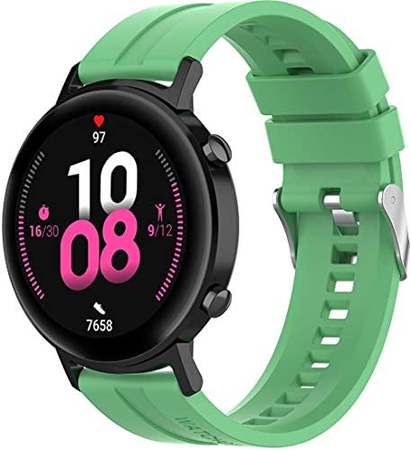 Classicase Correa de Reloj Compatible con Huawei Watch GT 2 (42mm) / Watch Elegant/Watch GT 2 Elegant, Silicona Banda de Reemplazo Pulsera (20mm, Pattern 12)