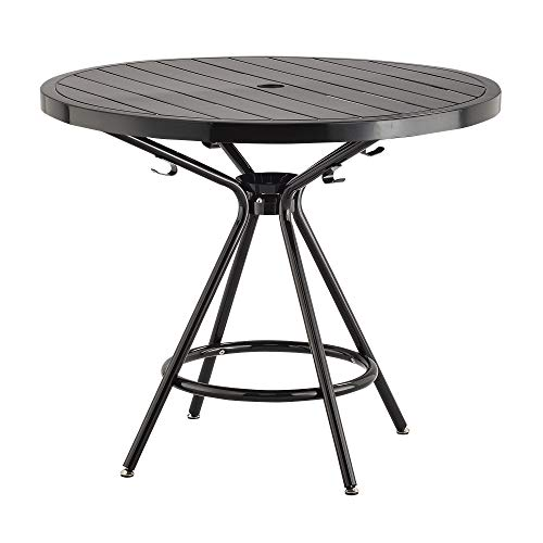 """Safco Products CoGo Steel Indoor/Outdoor Table, 36"""" Round, Black"""