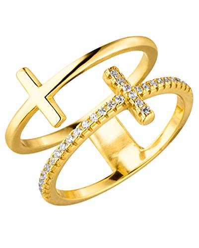 Purelei Ring Double Cross (Gold, 52)