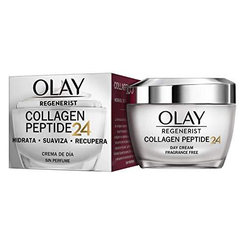 Olay Regenerist Collagen Peptide24 Crema de día sin Perfume, Revela una Piel Fuerte y Luminosa en 14 Días