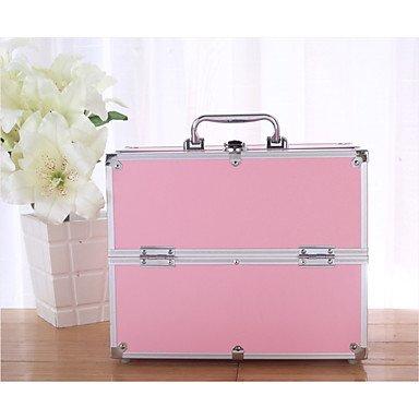 RY@ Unisexe PVC Formel / Bureau & Travail / Utilisation Professionnelle Trousse de Maquillage , pink