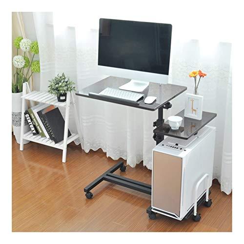 FHT Pflegetisch Pflegetisch Computertisch Schreibtich Frühstückstisch for Die Professionelle Pflege Höhenverstellbar Beistelltisch Notebooktisch (Color : Matte Black)