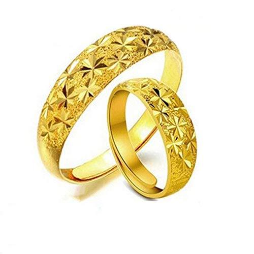 TYV Koppels vergulde ring, starry open ring, verstelbaar formaat, zonder vervagen