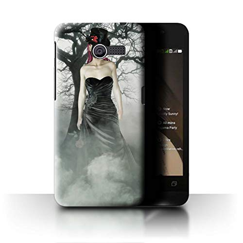 Stuff4® Phone Case/Cover/Skin/ASUS-CC/Day of The Dead Festival Collection Asus ZenFone 4/A400CG Zwarte jurk vrouw