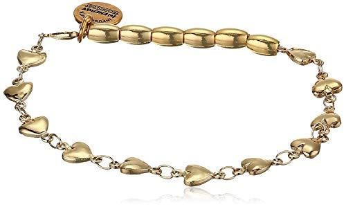 Alex and Ani Heart Stretch Bracelet, SG, Shiny Gold, One Size