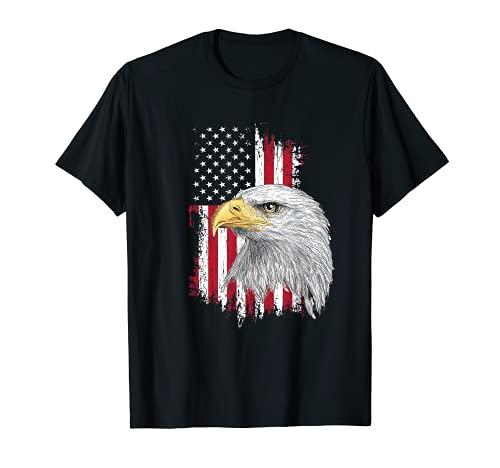 Estados Unidos águila calva 4 de julio bandera americana Camiseta