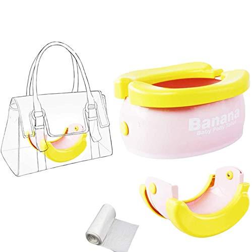Baby Travel Vasino WC per bambini confortevole sedia portatile assistente, pieghevole per bambini e ragazze