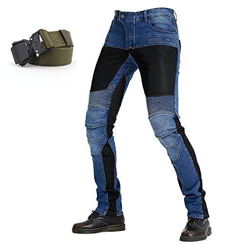 Pantalones de montar a caballo de la motocicleta de los hombres pantalones vaqueros de carreras de motocross, pantalones vaqueros con la guarnición protectora de la