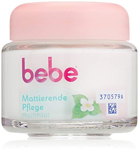 bebe Mattierende Pflege - Sanfte Gesichtscreme mit grünem Tee für Mischhaut - 1 x 50ml