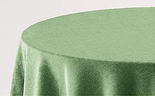 BENEDETTAHOME Falda Mesa Camilla Rectangular Lisa Terciopelo 70x110cm. Verde