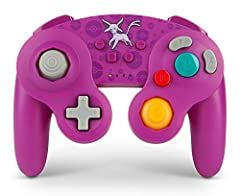 Classic GameCube design plus larger D-pad and added left shoulder button Motion controls and system buttons added for compatibility across all Nintendo Switch games Player indicator and low battery warning LED Includes two AA batteries for up to 30 h...