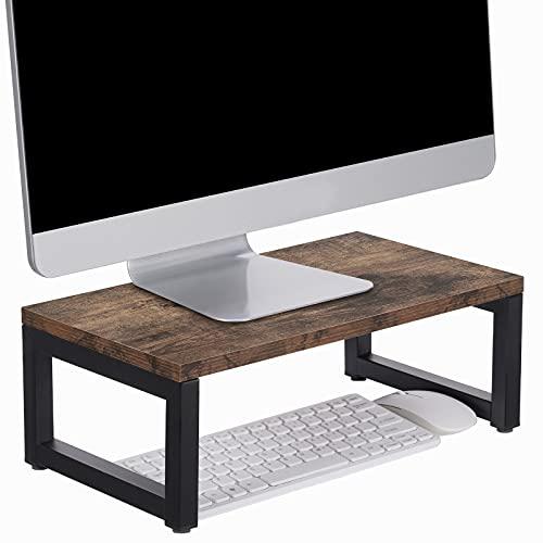 Giikin Monitor Stand Riser, Desk & Tabletop Organizer Desktop Storage Shelf Ergonomic Monitor Stand for Laptop, Computer, MacBook, Notebook