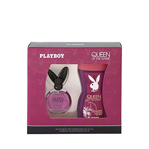 Corine de Farme - Coffret Playboy Queen Of The Game - Coffret Cadeau pour Femme - Eau de Toilette 40 ml et Gel Douche 250 ml - Parfum Floral et Sensuel