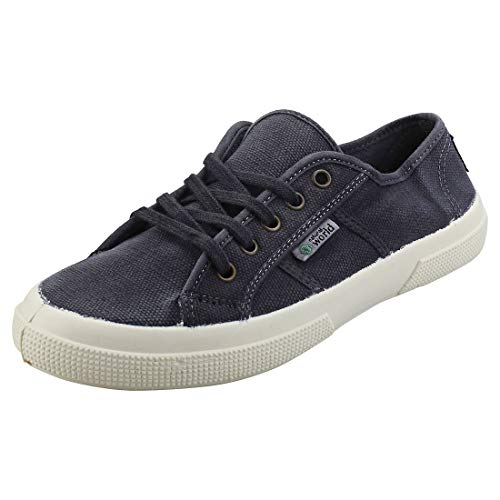 Natural World Old Blossom Womens Casual Shoes in Marine - 8 UK
