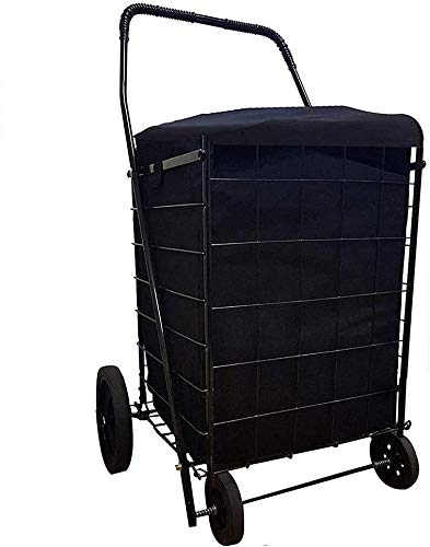 Folding Shopping CART Liner with Cover,Water Proof (Liner ONLY) (Black) - Sold Only