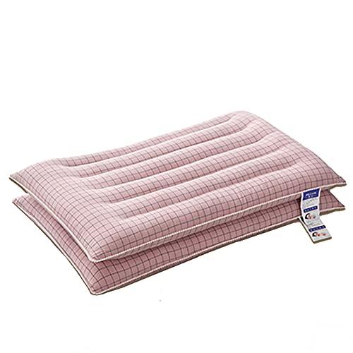 Almohadas para Dormir, Almohada Alternativa de Plumón Hipoalergénico Transpirable Suave para La Espalda, Juego de 2 Almohadas de Hotel 100% Algodón, 19x29 Pulgadas,Rosado