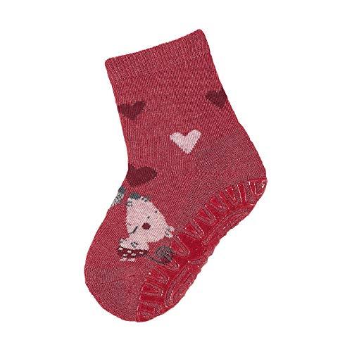 Sterntaler Baby - Mädchen Socken Fli Fli Air Mäuse, Rot (Beerenrot Mel. 816) , 18 (Herstellergröße: 18)