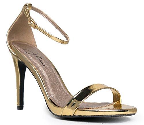 Qupid Women's Grammy-01 Dress Sandal Gold Shiny**- 6.5 B(M) US