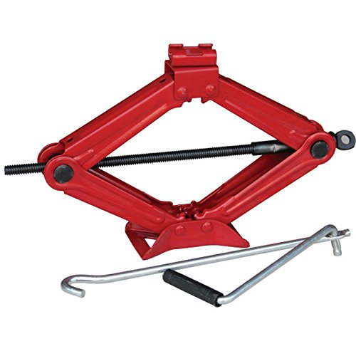 2 Ton Scissor Lift Jack for Car SUV MPV RV Trailer Stabilizer Leveling Tire Jack Ratchet Handle Saving Strength Design Red