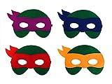 JDProvisions 12 Stück Superhelden Party Fun Cosplay Filz Masken für Jungen Mädchen, Filz, grün, 3 Years +