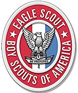MAGNET Oval EAGLE SCOUT Logo Magnet(scouting emblem insigina boy scouting) 3 x 5 inch