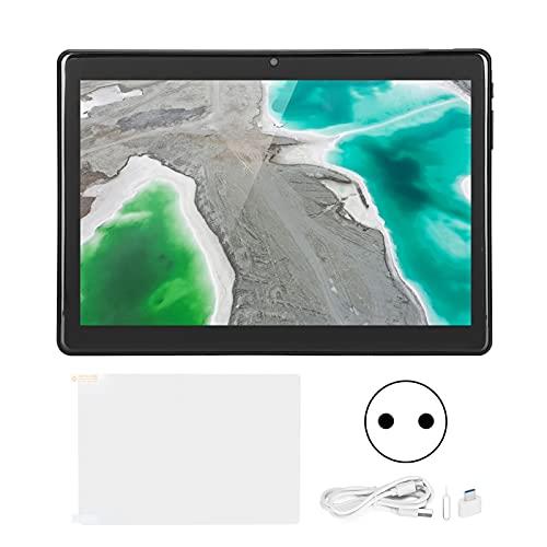 Tablet PC de 10 Pulgadas, USB C Tablet 32GB ROM Octa-Core CPU 4G Black LTE Tablet con batería incorporada para estudiar, Jugar, Trabajar 100‑240V(Enchufe de la UE)