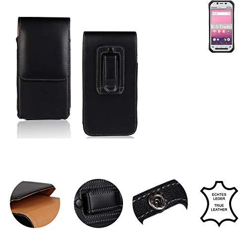 K-S-Trade® Holster Gürtel Tasche Für Panasonic Toughbook FZ-N1 Handy Hülle Leder Schwarz, 1x