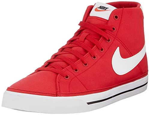 Nike Court Legacy Mid Canvas, Zapatos de Tenis Hombre, Rojo Y Blanco, 40.5 EU